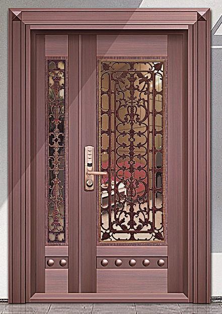 玻璃铜门定做