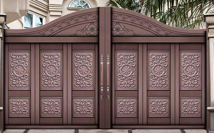 别墅墙院铜门